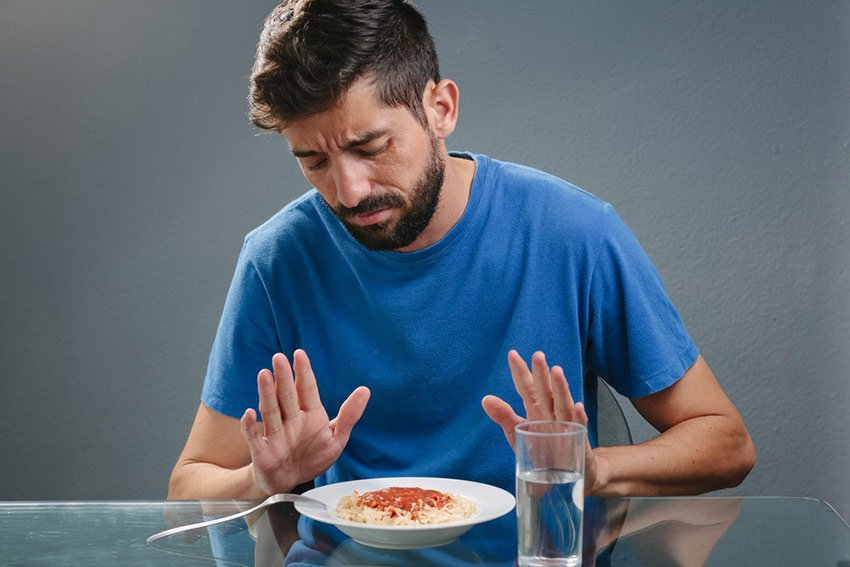 brak apetytu