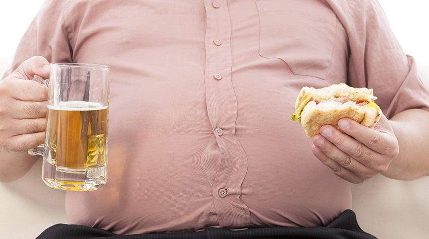 gruby otyłość