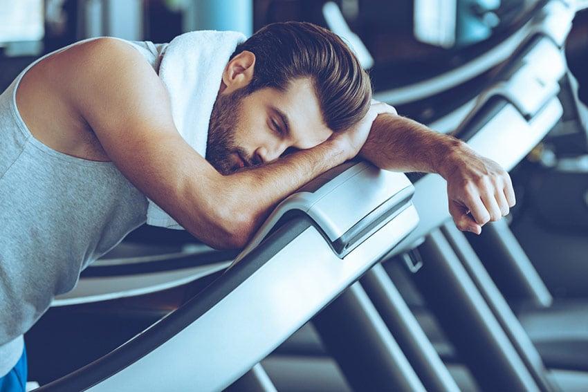 zmęczony siłownia