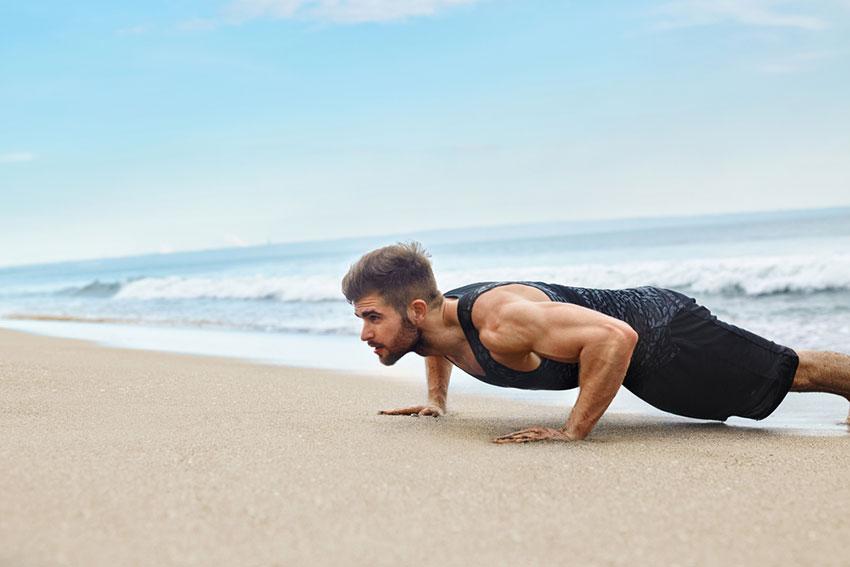 trening na plaży