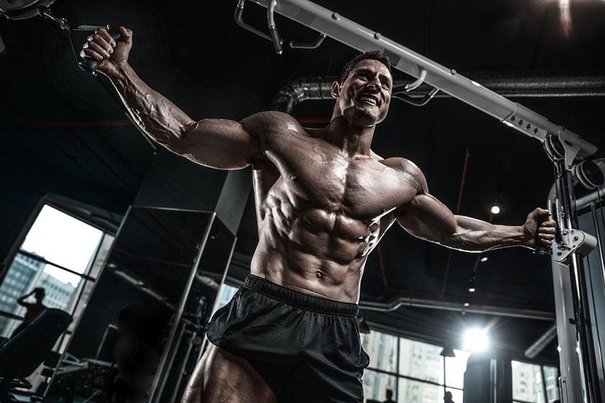 pompa mięśniowa na treningu