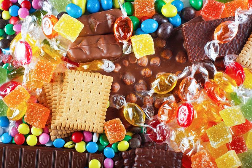 niezdrowe słodycze