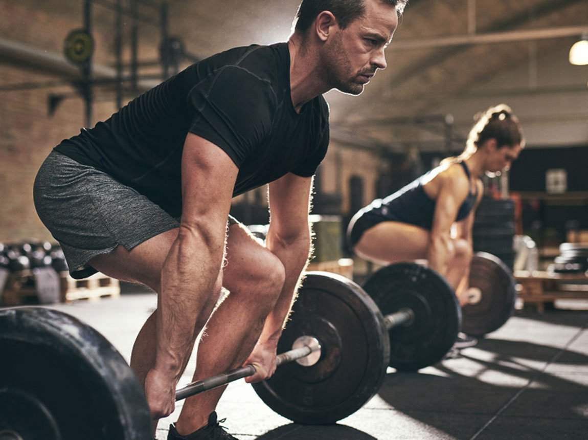 ćwiczenia fizyczne na siłowni