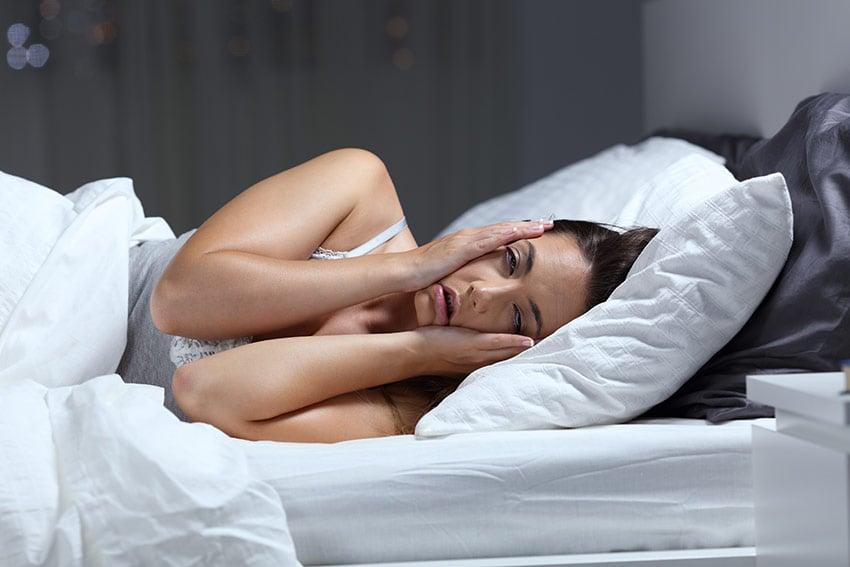 kobieta i brak snu