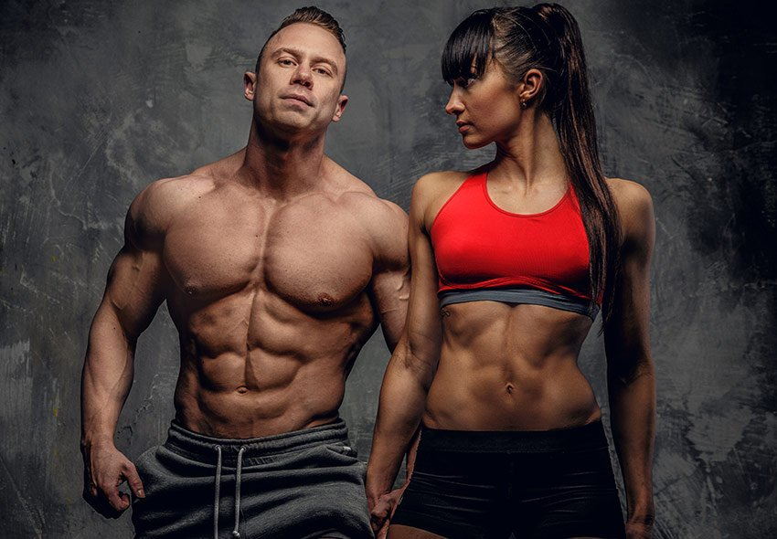 mięśnie kobieta mężczyzna