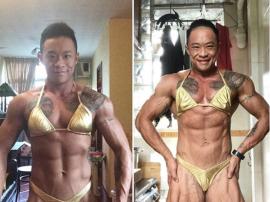 Siu-fung - transseksualny kulturysta freak