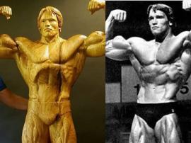 Niesamowita drewniana rzeźba Arnolda Schwarzeneggera jest gotowa na Arnold Classic 2019