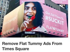 Modelka plus size Tess Holliday oburzona reklamą nakłaniającą do tłumienia apetytu