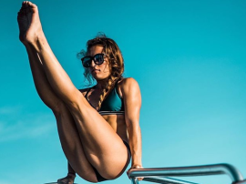 Niesamowite salto Demi Bagby