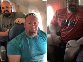 Wielkie dziki vs. malutkie fotele samolotowe