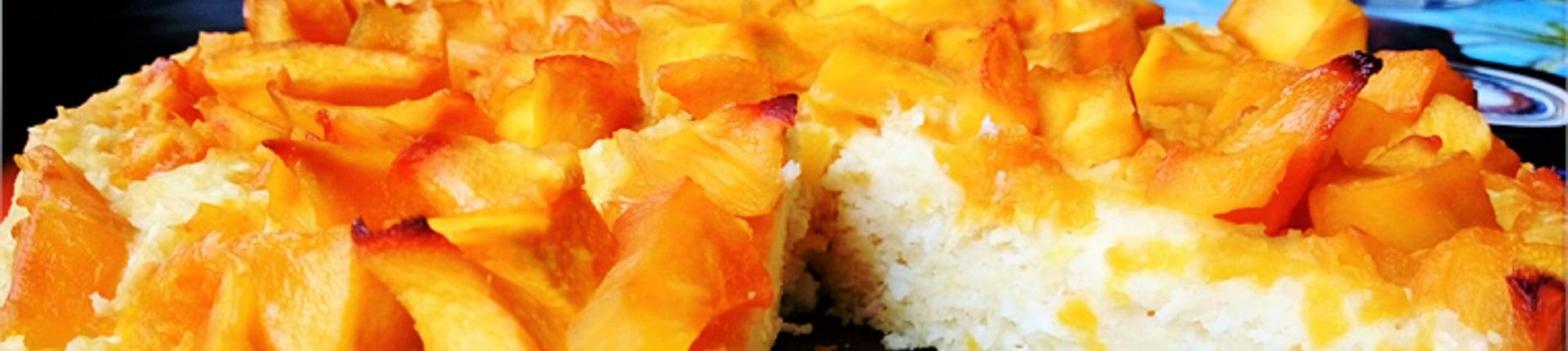 Ciasto jaglano - kokosowe z mango