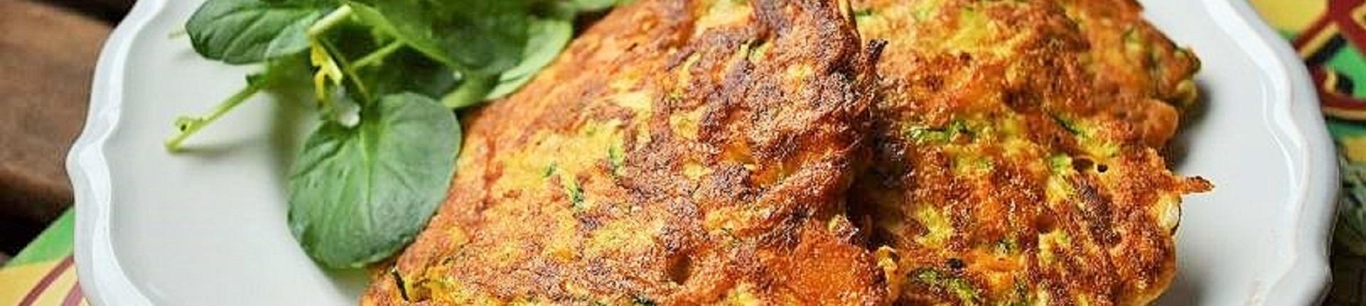 Placki warzywne z mozzarellą