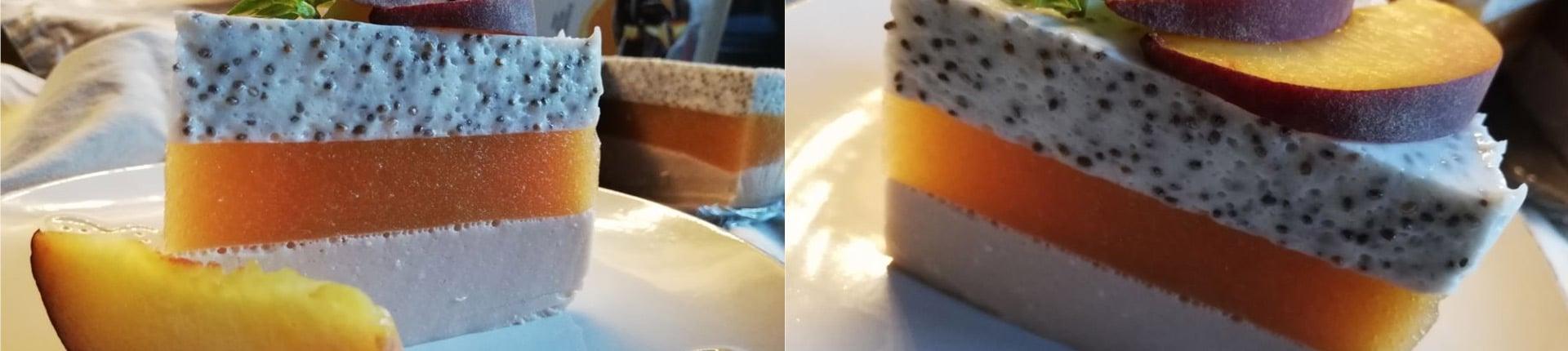 Proteinowo - brzoskwiniowy sernik na zimno