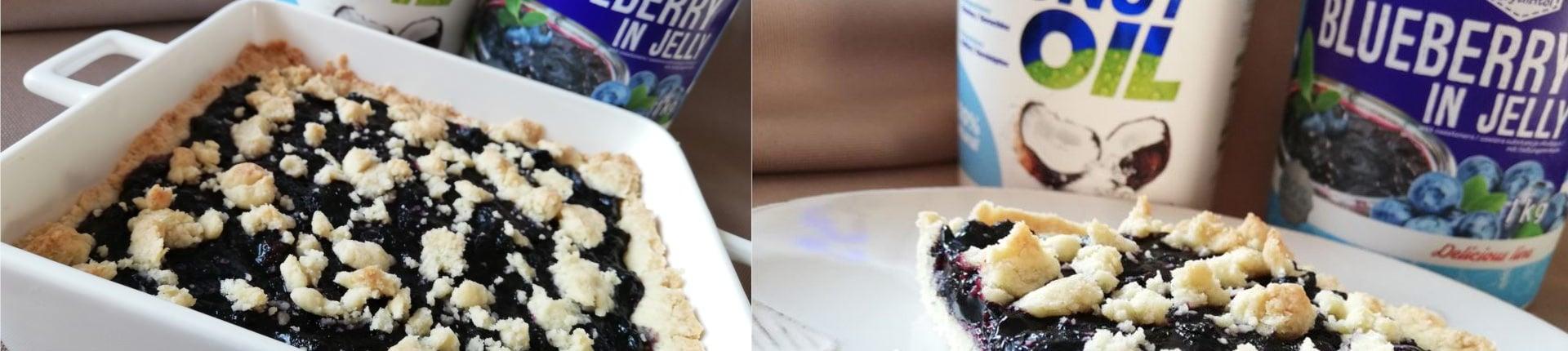 Ciasto jagodowe bez cukru