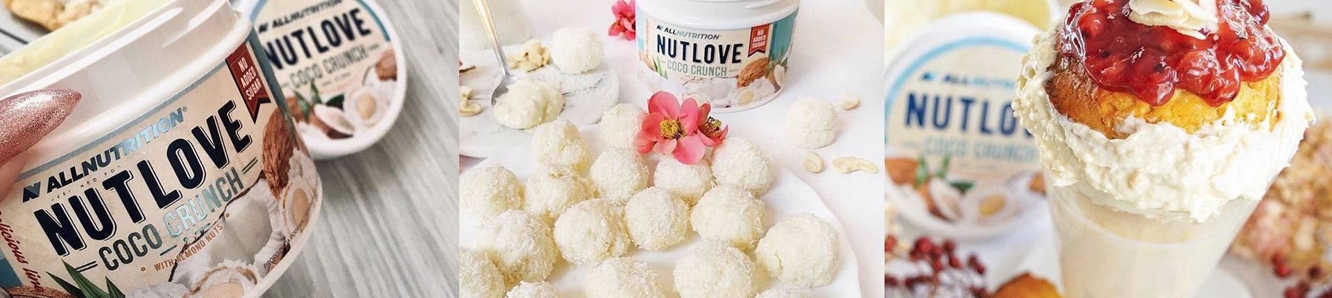 NUTLOVE COCO CRUNCH - krem kokosowy z dodatkiem chrupiących migdałów
