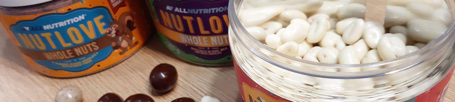 Nutlove WHOLE NUTS - nowe pyszne smaki orzechów w czekoladzie